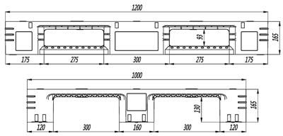 GY-1210DCW-04 网格川字托盘(图2)