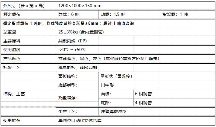 GY-1210DCP-03 平板川字托盘(图1)