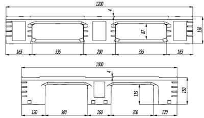 GY-1210DCP-03 平板川字托盘(图2)