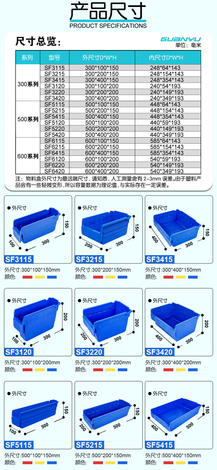 SF3120货架物料盒(图2)